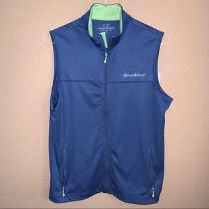 Small Vineyard Vines Blue-Green Full Zip Vest